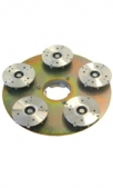 Шлифовальный диск для шлиф шкурки, с 5 вращающимися сегментами,